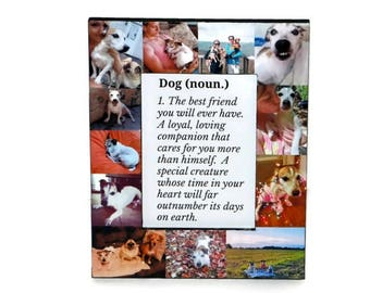 Definition of a Dog | Man's Best Friend | Pet Memorial Frame | Pet Frame | In Loving Memory Frame | Rainbow Bridge | Custom Dog Frame