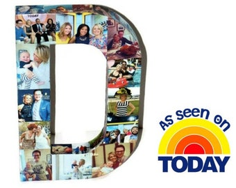 Today Show Feature | Picture Collage Letter | 3D Initial | Letter D example
