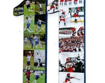 "Number 11 18"" Double Digit Jersey Number Photo Collage Huge Birthday Anniversary Party Senior Night  Football, Soccer, Baseball, Basketball"