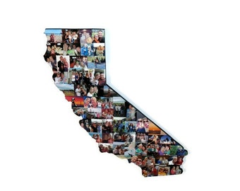 Wooden Custom State Collage Gift College Moving Missing Home California Ohio Pennsylvania Florida Indiana Texas Virginia Cali