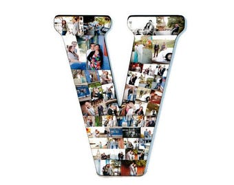 "Letter Photo Collage Senior Graduation Gift 2017 Senior Night Graduation Decorations Graduation Photo Display Letter with Pictures 18"" V"