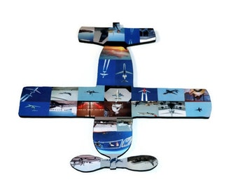 Airplane Wood Cut out with photos Picture Collage Aircraft Flight Air plane Personalized Gift Photo Collage Aviator Navigator Autopilot