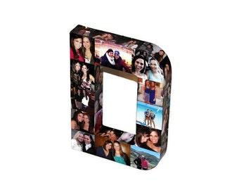 "Wedding Birthday Photo Letter Picture Letter Custom  Personalized Monogram 12"" 3D Letter Photo Collage all sides of any letter D"