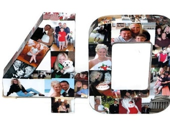 25th Wedding Anniversary 10th 40th 50th 75th Graduation Photo Letter Collage Picture Frame Party Decor Birthday Senior Year 2015 360' 15