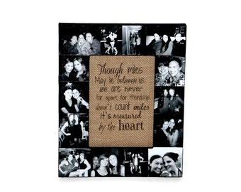 Best Friend Picture Frame, Picture Frame Collage, Girlfriend Gift, Boyfriend Gift, Anniversary Gift, Best Friend Frame, Maid of Honor Gift