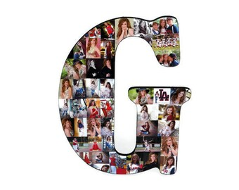 """Graduation Photo Display Senior Graduation Gift 2018 Senior Night Graduation Decorations Letter with Pictures 18"""" Letter Photo Collage"""