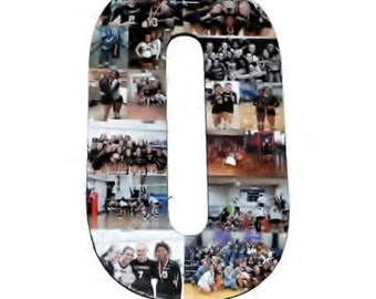Number Photo Number Collage Picture frame College Sport Wedding Anniversary Birthday Senior night year 2017 Jersey Number