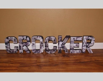 Custom photo letters your choice of word and how many 3D Hand painted back and photos on front Wedding Gift, Engagement, Bridal Shower, baby