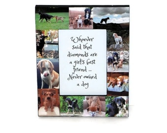 Pet Frame Personalized Pet Memorial Collage Picture In Loving Memory Fur Baby Frame Rainbow Bridge Custom Cat Dog Frame Memorial Photo Frame