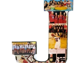 Photo Letter Collage Picture frame Children's Girlfriend College Dorm Room Wedding Birthday, Anniversary Engagement Senior night year 2015 J