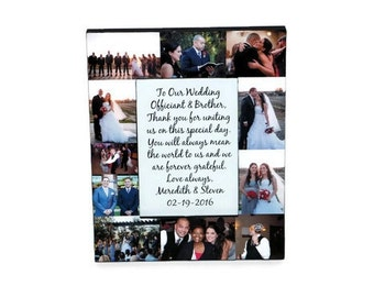 Wedding Officiant Thank you Picture Frame Collage Photo Frame Unique Gift, Maid of Honor, Bridesmaid Gift Appreciation Gift