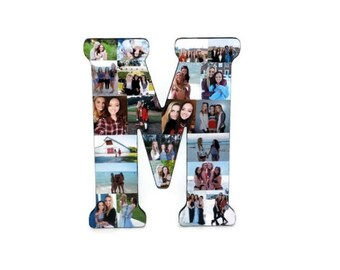 "18"" Letter Photo Collage or Number Collage Anniversary Engagement Birthday Fathers Day Bridal Shower Best friend Senior Night Graduation A-Z"