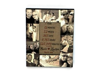 Picture Frame Collage, Photo Frame, best friend Gift, bachelorette party, Maid of Honor, Bridesmaid, Sister Gift, Baby's first year, Gift