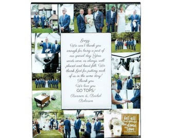 WEDDING OFFICIANT GIFT | Wedding officiant frame | Wedding officiant | Wedding officiant picture frame | Thank You For Marrying Us Gift