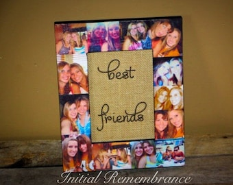 Best Friend Wedding Anniversary Unique Maid of Honor Gift, Sister Gift Personalized Keepsake Custom Photo Frame Collage Unique Birthday Gift