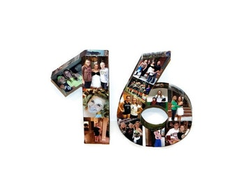 Graduation Year '16 16th Birthday Wedding Anniversary 20th 30th 40th 50th Photo Number Letter Picture Collage Class Reunion Senior 2016 Grad