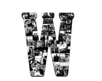 Letter W | Letter Photo Collage | Photo Collage Letter | Graduation Gift | Valentine's Day Gift for Girlfriends | Photos of us | Initial