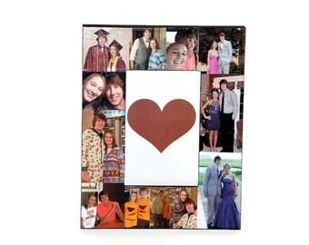 Valentines Day Personalized Frame Corinthians 13 4-8 1 year Anniversary Picture Frame Collage Best Friends Boyfriend Girlfriend Anniversary