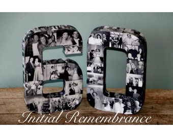 Wedding Anniversary Birthday Collage 20th 30th 40th Photo Number Picture Letter Class Reunion Birthday Jersey Graduation 2015 3D 15 15th