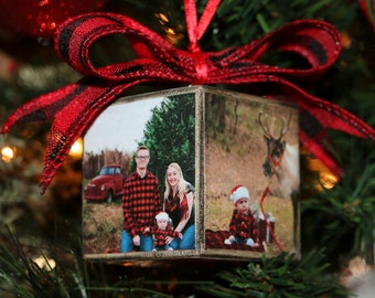 Baby's First Christmas, Picture Ornament, Photo Ornament, Block Photo Ornament, Custom Ornament, Christmas Ornament, Wood Ornament,