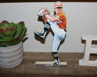 Baseball Wood Cutout with photo, Baseball Trophy, Sports Photo Statue, Custom Sports Plaque, Picture Award Plaque, Personalized  Statuette