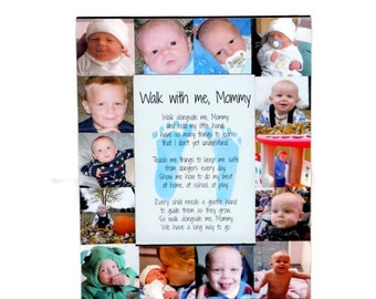 Mother's Day Gift, Mommy's First Mother's Day, 1st Mother's Day Frame,  Mommy Walk with me, I love you Mommy Photo Frame, Baby Footprints