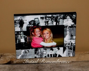 Photo Frame Collage, Picture Frame Personalized Sister Gift, Maid of Honor Picture Frame, Bridesmaid Frame, Bridal Shower Gift, Best Friend