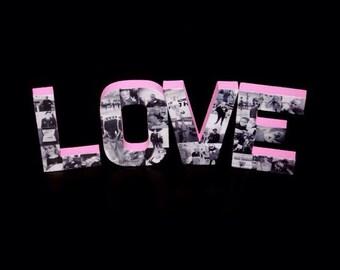 Love Letter Photo Collage Valentine's Day Gift Girlfriend Gift Boyfriend Gift Wedding Engagement Best Friend Photo Frame