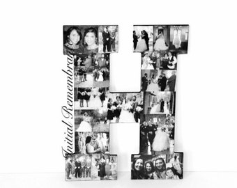 "13"" Photo Letter Collage Girlfriend Boyfriend graduation Wedding Birthday Anniversary Engagement Best Friend picture frame awards"