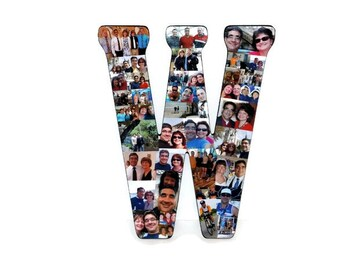 """Valentine's Day Gift for her him, Personalized Gift Graduation Birthday Collage Gift 18"""" Letter Photo Collage"""