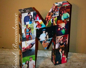 3D Picture Frame Photo letter collage Gift, Children's, College Dorm Room Wedding Birthday Initial Personalized Monogram