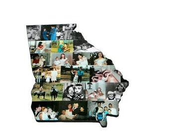 Wooden Custom State Collage Gift College Moving Missing Home Ohio Pennsylvania Michigan Florida Alabama Texas California Indiana Georgia