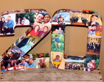 20th Wedding Anniversary Birthday 10th 40th 50th 75th Graduation Photo Letter Collage Picture Frame Party Decor  Senior Year 2015 360' 15