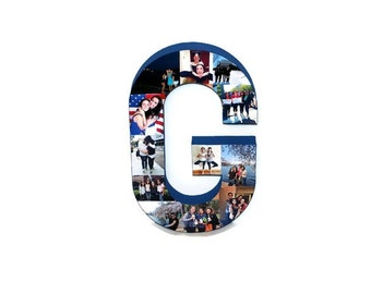 """3D 16"""" Huge Picture Frame Photo letter collage Gift, Children's, College Dorm Room Wedding Birthday Initial Personalized Monogram"""