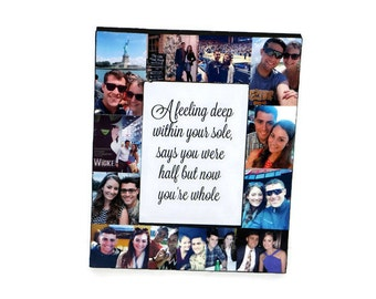 Anniversary Picture Frame Photo Frame Corinthians 13 4-8 1 year Collage Personalized Gift Best Friends Boyfriend Girlfriend