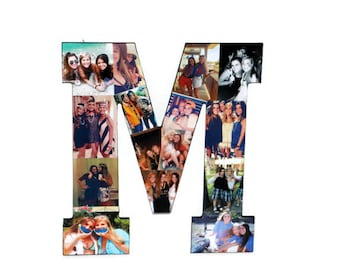 Best Friend Photo Frame Letter Collage Initial Senior night Girlfriend Graduation Wedding Birthday Anniversary Engagement Awards night