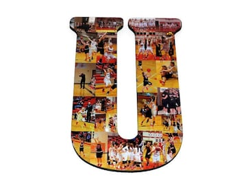 "18"" Letter Collage, Senior Night, Team mom gift, Coaches gift, University team gift, Senior Awards Recognition Team Gifts Sports Athletics"