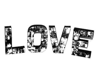 Love Letter Photo Collage Valentine's Day Gift Girlfriend Boyfriend Gift The word Love with photos collage Love Sign Valentines Day her him