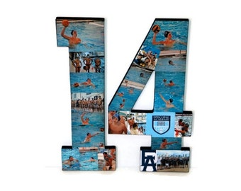 Number Collage, Photo Collage Number, Swim Team Senior Night, Jersey Number, Swim Cap Number