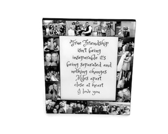Personalized Sisters Gift Bridesmaid Picture Frame Custom Collage Maid of Honor Frame Collage Best Friends Gift Parent Gift 4x6 5x7 8x10