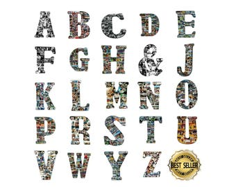 PHOTO LETTER COLLAGE | Letter with photos | Initial Collage | Photo Letter | Picture Collage | Photo Collage Letters