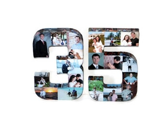 35th Birthday 40th Wedding Anniversary 21st 50th 75th Photo Letter Picture Collage party decoration Graduation 2019 pep rally '19 '20 Senior