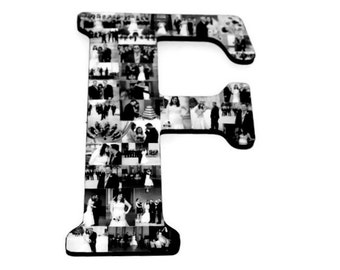 """Huge 18"""" Letter Photo Collage Dorm Room Letter, Alphabet Collage, Initial Collage, Monogram Collage, Graduation Photos, back to College"""