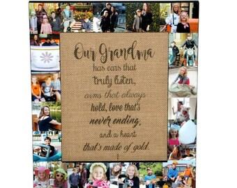 Grandmother Gift | Grandma | Grandma Frame | Gift for Nana | Gift from Grandkids | Grandchildren | Grandchild | Meme | Mimi | Baba | Glamma