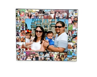 Personalized Picture Frame Collage Christmas Portraits Unique First Year Picture Frame Maid of Honor Photo Collage Frame 1st time Daddy Dad