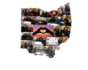 Wooden Custom State Collage Gift College Moving Missing Home Ohio Pennsylvania Michigan Florida Alabama