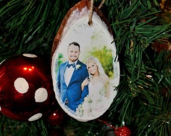 Photo Christmas Ornament, Wood Slice Ornament Photo, Rustic Photo Ornament, Personalized Photo Ornament, Photo Ornament, Wooden Ornament