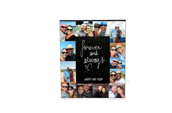 1 Year Anniversary Picture Frame Collage Frame Forever And