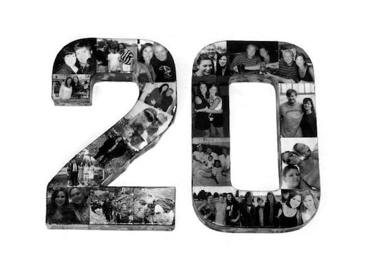 20th Birthday Wedding Anniversary Collage 10th 30th 40th 21st Etsy