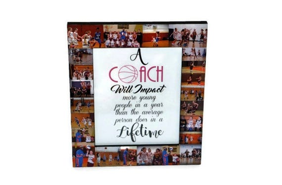 Gift for Coach Photo Frame Collage Coaches Gift Soccer Coach | Etsy